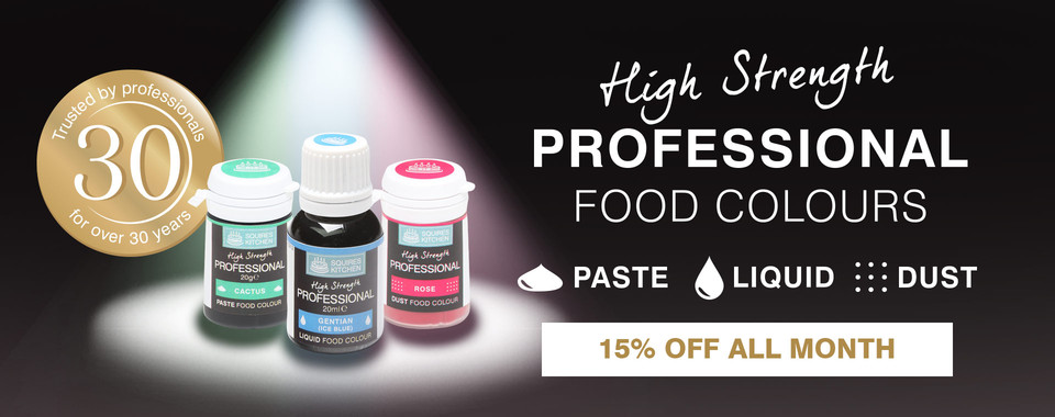 Save on Pro Food Colours during August with 15% Off